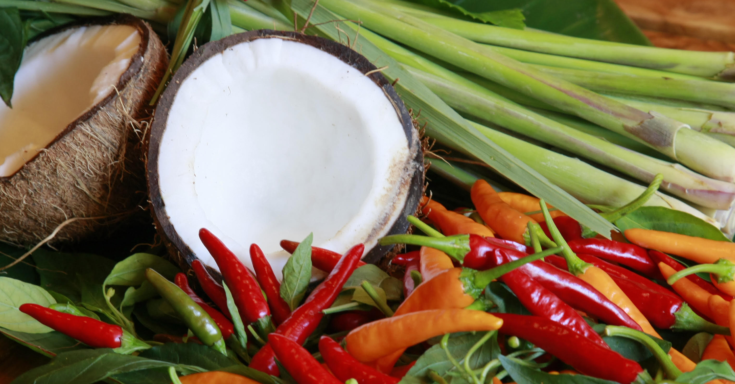 Coconut and Thai chilli peppers